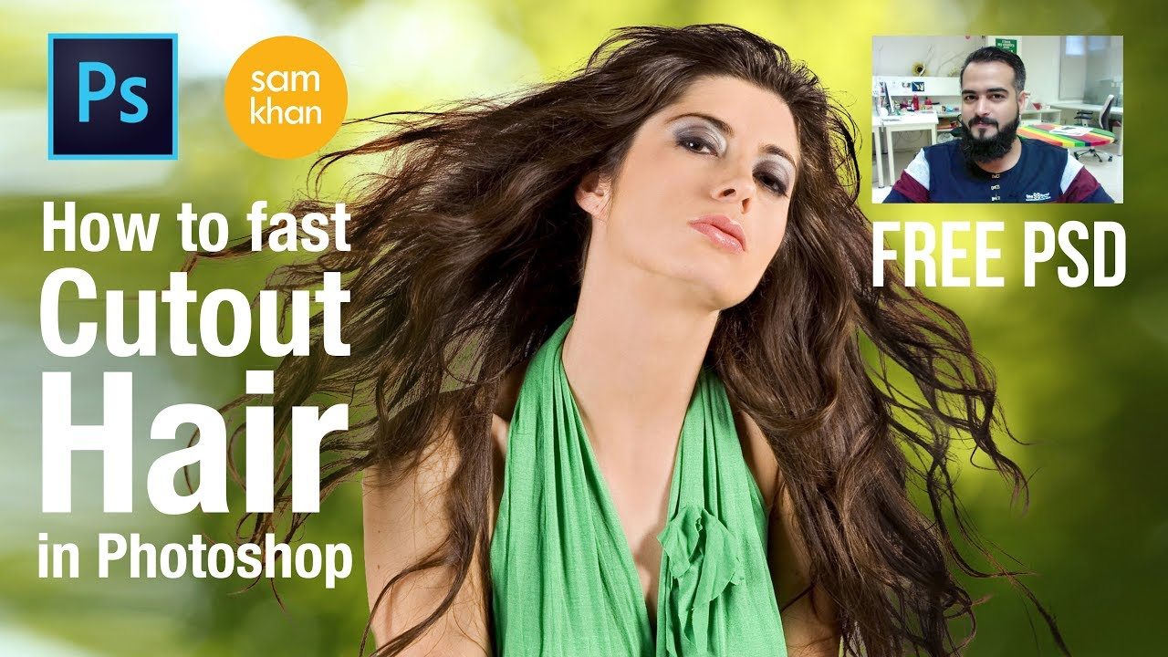 Photoshop tutorial | How to fast cut out hair in photoshop by samkhancreative