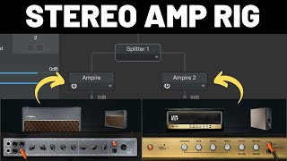 How to Run Two Guitar Amps in Stereo in #StudioOne