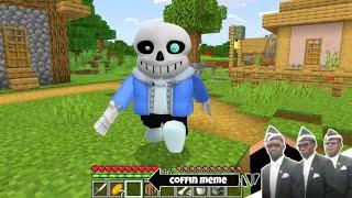 I found Real Sans Undertale in Minecraft - Coffin Meme