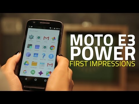 Moto E3 Power: Hands-on