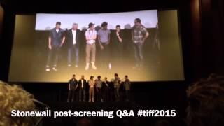 STONEWALL Movie TIFF post screening Q&A
