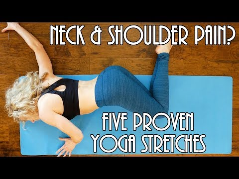 5 Proven Yoga Stretches For Neck & Shoulder Pain Relief! with Lindsey Samper