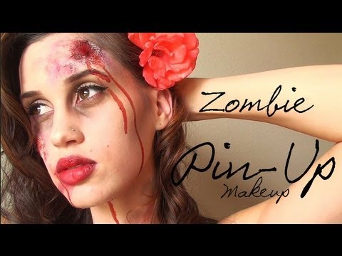 zombie pin up girl halloween makeup youtube. Black Bedroom Furniture Sets. Home Design Ideas