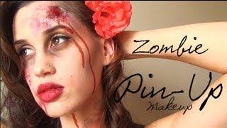 Zombie Pin-Up Girl Halloween Makeup