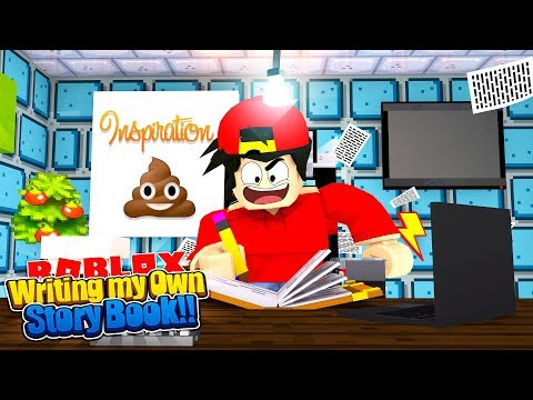 ROBLOX - WRITING MY OWN STORY BOOK..... ABOUT POO!!!