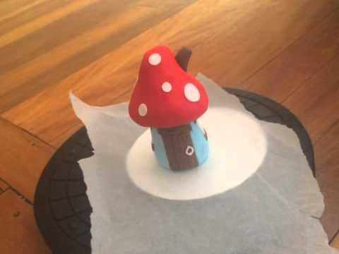 How To Make A Smurf House Cake