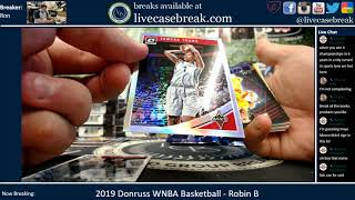 2019 Donruss WNBA Basketball 2 Box Personal Robin B 8 17 2019