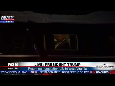 WATCH: President Trump Returns Home After Rally In West Virginia (FNN)