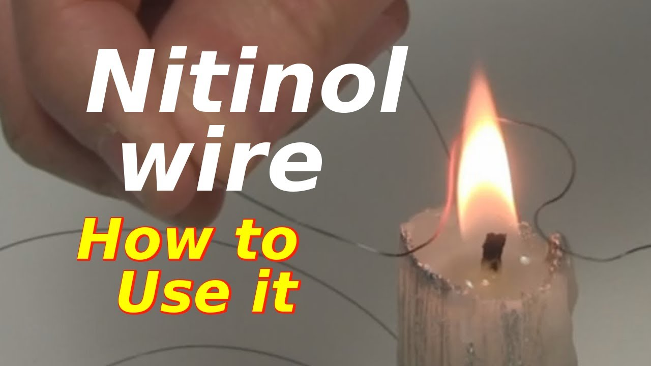 Stop Sign Shape >> Nitinol Wire/Shape Memory Alloy - How to Use it - YouTube