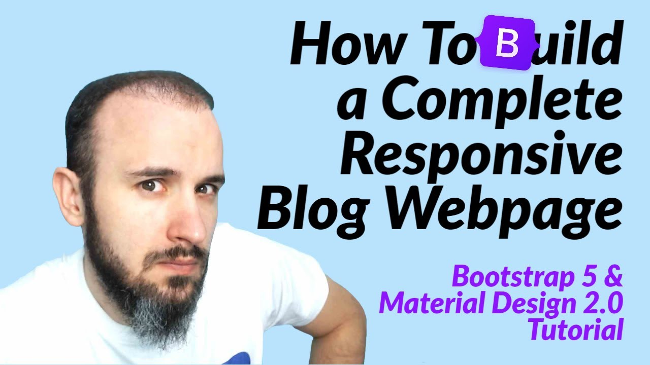 Blog with Bootstrap 5 & Material Design 2.0 (MDB 5 Tutorial)