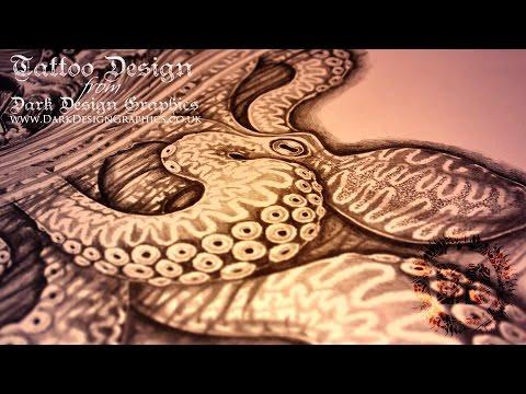 Full Sleeve Tattoo Design - Poseidon & Kraken