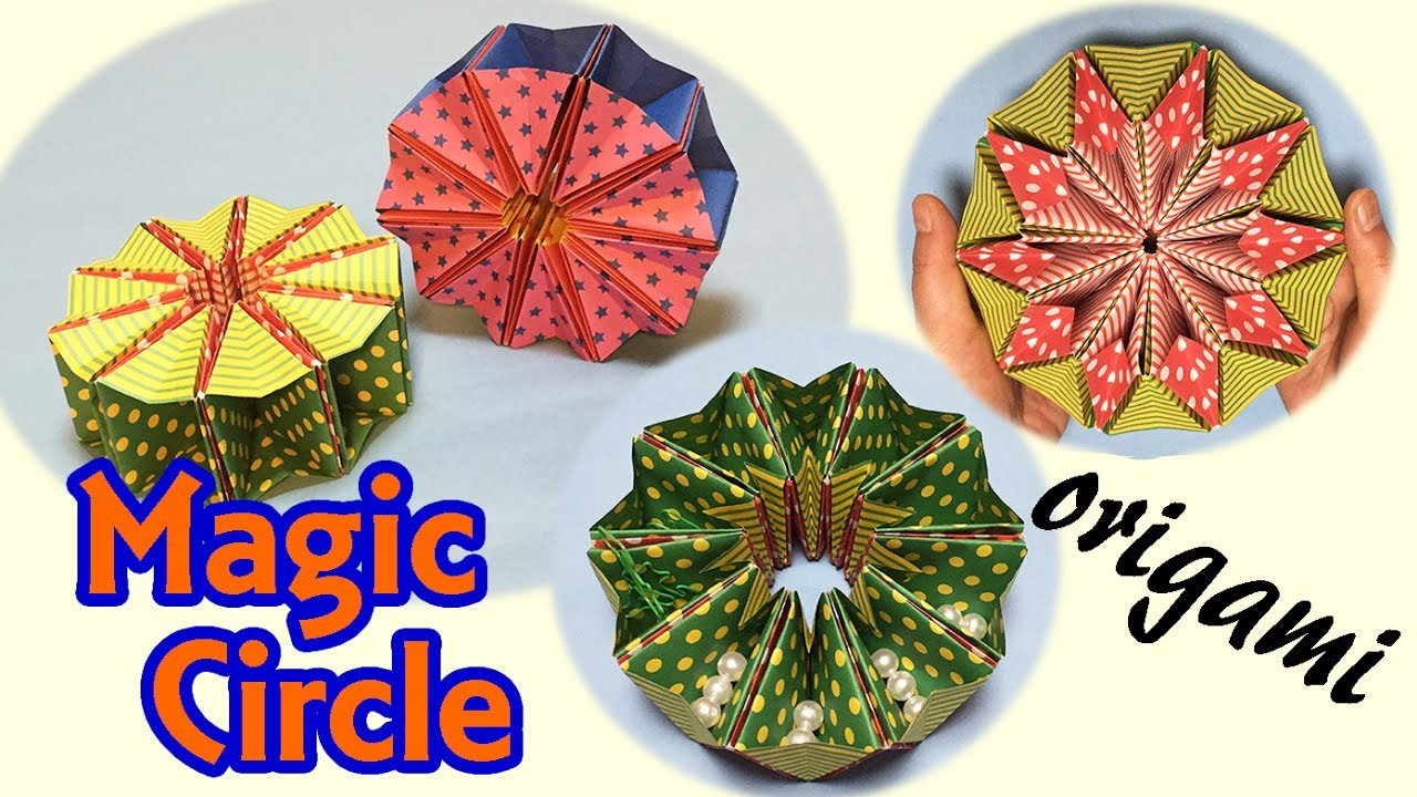 awesome origami magic circle how to make a transforming