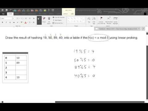 Hashing - Part 1:  Linear Probing