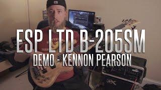 esp ltd b 205sm demo kennon pearson