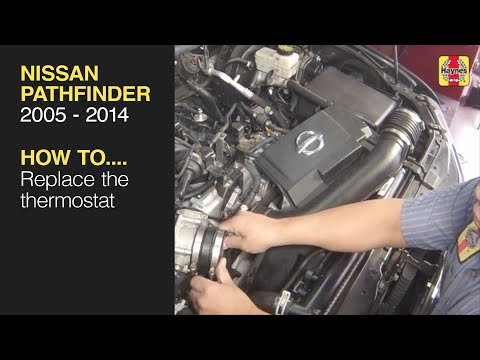 How to Thermostat replacement on the Nissan Pathfinder 2005 to 2014