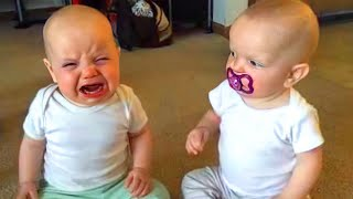 Cute Twins Baby Will Make You Laugh -  Funny Twins Video