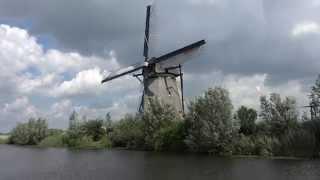 【4K】オランダ・キンデルダイクの風車網
