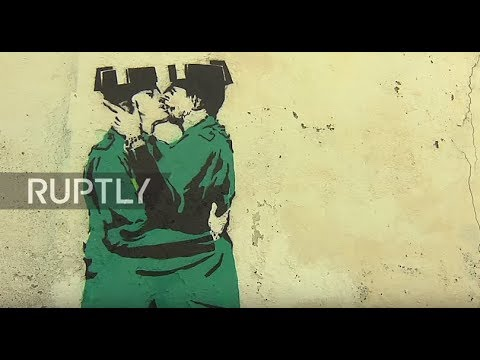 'Banksy' art depicting civil guards kissing appears in Franco's hometown