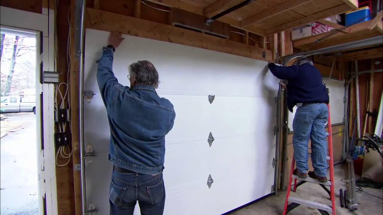 How To Install A Garage Door Youtube