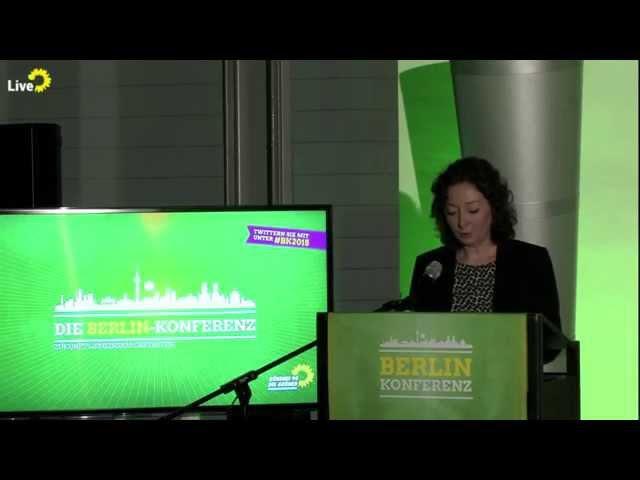 Begrüßung Ramona Pop - Zukunft gestalten - Die Berlin-Konferenz #BK2015