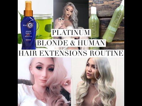how-to-keep-bleach-blonde-hair-and-human-hair-extensions-healthy-and-soft!-hair-care-routine