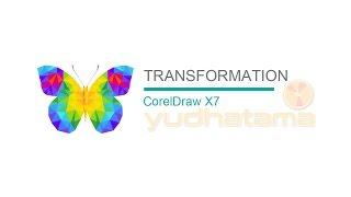 Menu Transformation di CorelDraw X7 Position Rotate Scale and mirror Size Skew