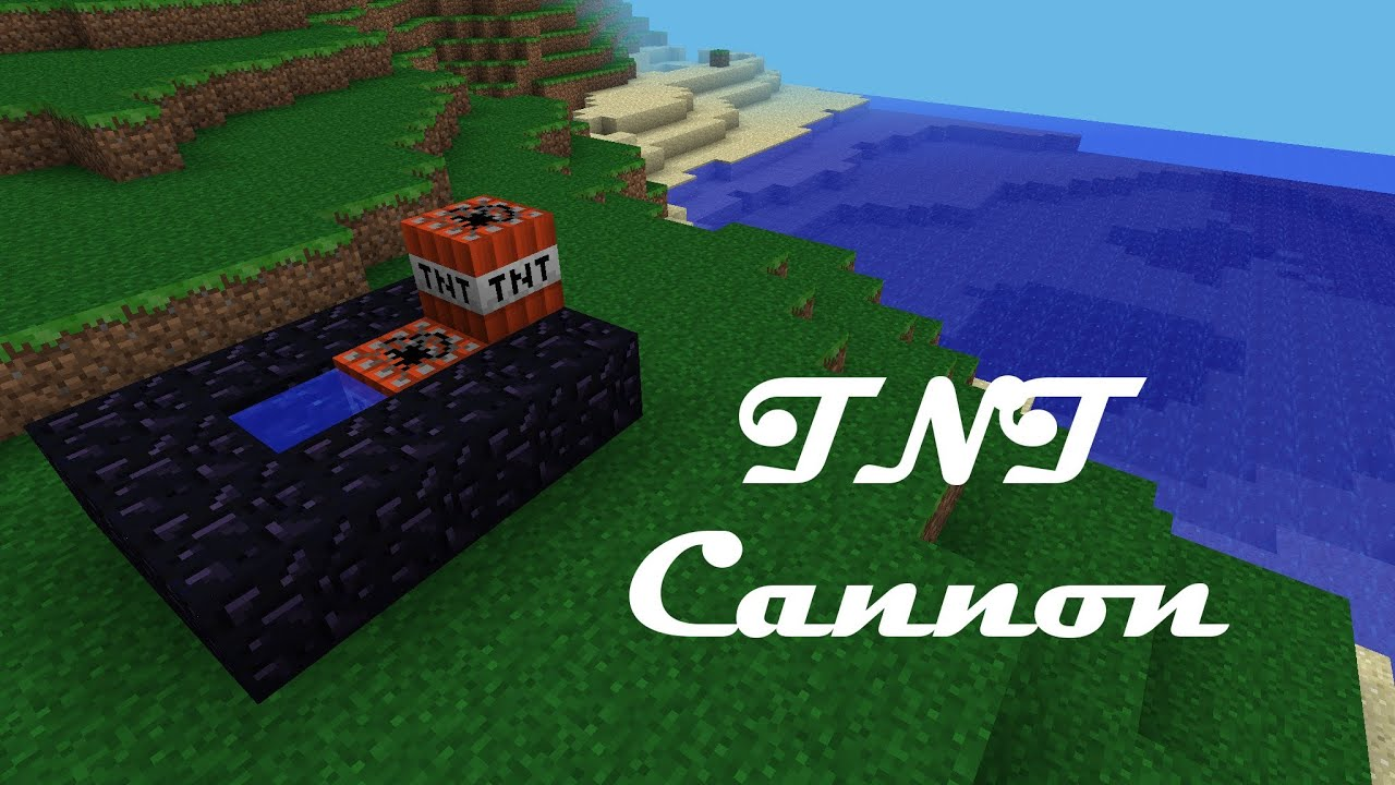 How to Make a TNT Cannon in Minecraft Pocket Edition - YouTube