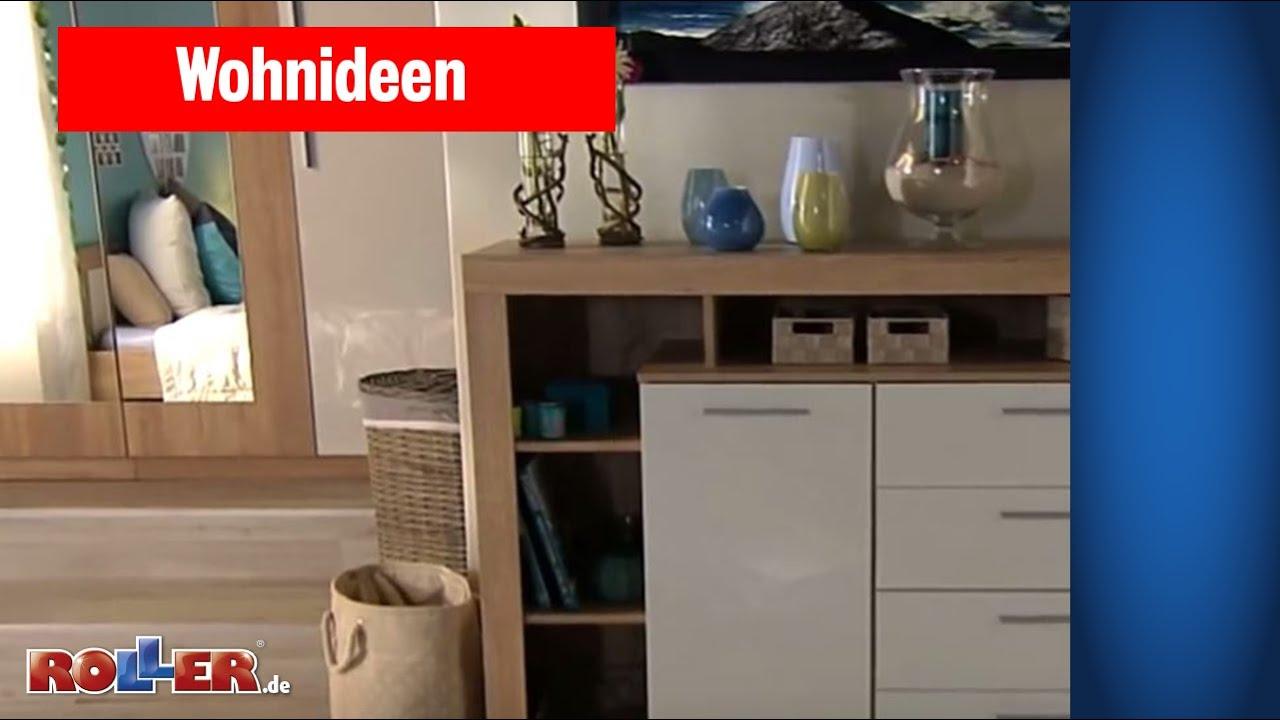 Schlafzimmer mit Sommerfeeling einrichten - ROLLER Wohnideen - YouTube
