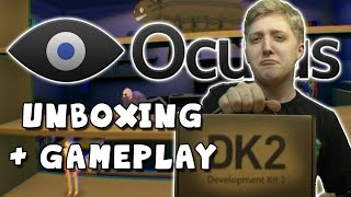 Oculus Rift DK2 Unboxing And Gameplay