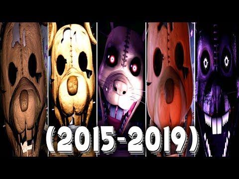 Evolution of Rat in FNAC 1, 2, 3, Remastered (2015 - 2019)