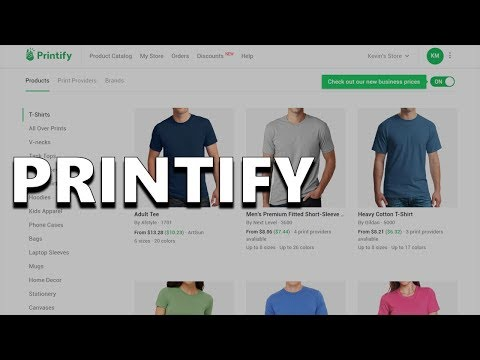 Simplify Selling Online with Printify -