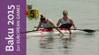 belarus triumph in the women s k2 200m kayak sprint   canoe sprint   baku 2015