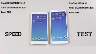 Xiaomi Redmi S2 vs Redmi Note 4X (Speed Test)