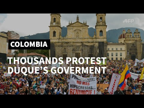 General strike as thousands protest Colombia's government | AFP