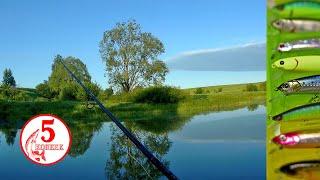 Секреты ловли щуки на малой реке Правильный твичинг Летняя сказка