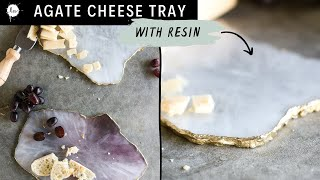 DIY Faux Agate Cheeseboard With Art Resin ( Coasters, Slices, Faux Geode,Tutorial )
