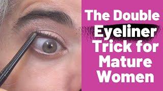 THE DOUBLE EYELINER TRÏCK FOR MATURE WOMEN | Nikol Johnson
