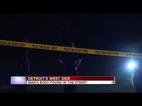 Man's body found in street on Detroit's west side