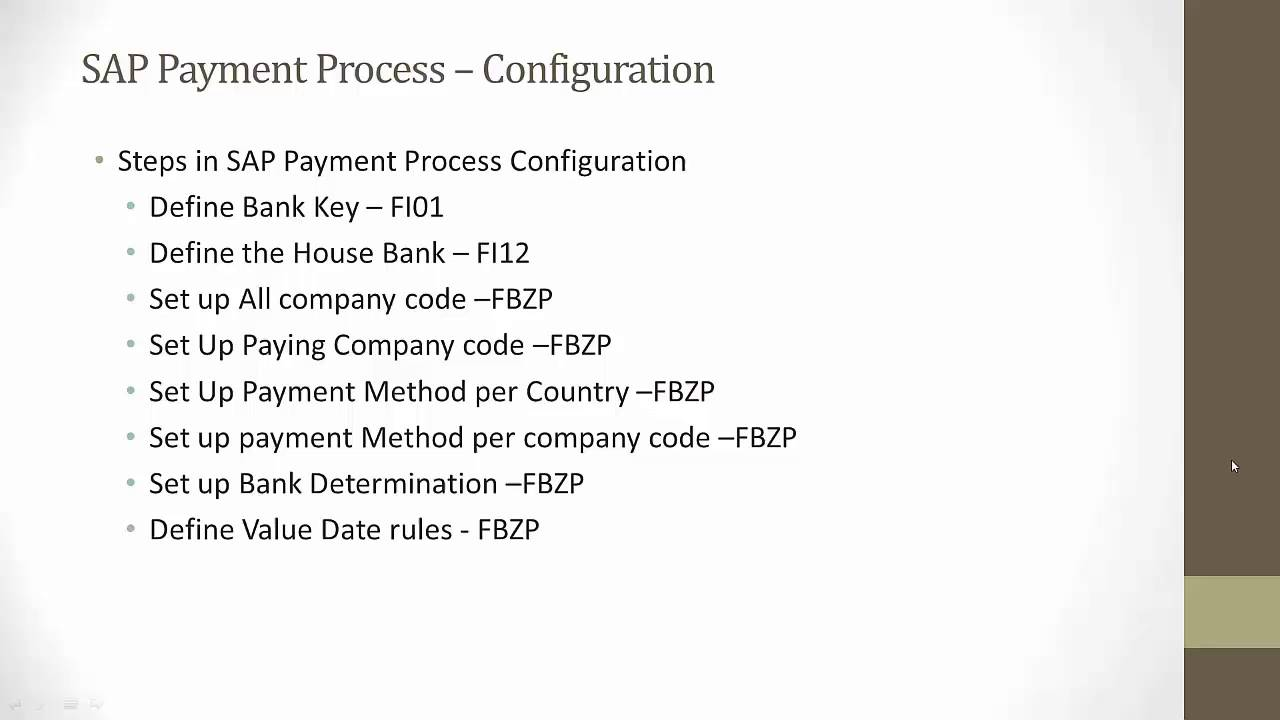 SAP Payment Process Configuration and Development- ACH, Wire, Check