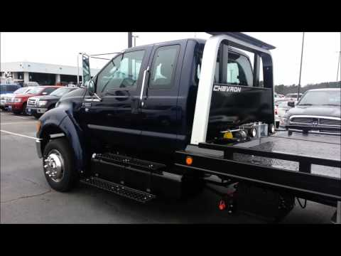 2013 Ford F650 XLT Supercab with a Chevron 21 1/2 foot steel rollback bed