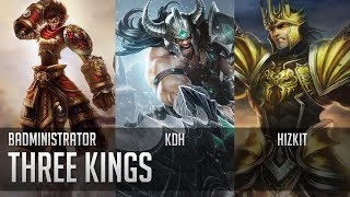 Repeat youtube video Badministrator - Three Kings w/ KDH and Hizkit (Wukong, Tryn, J4 Tribute)