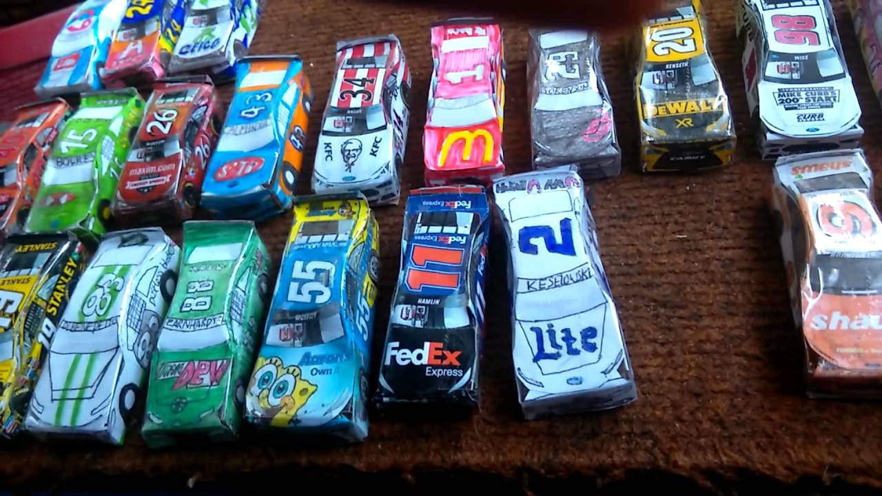 paper nascar update all the cars i have made so far youtube