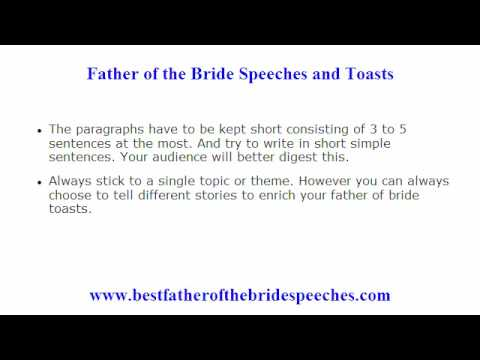 Father Of The Bride Speeches Examples - How To Get Hold Of The