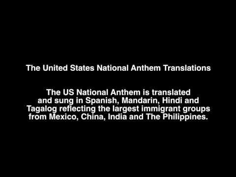 The United State National  Anthem Translations - together on one track