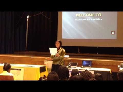 RENAENIA PANGAN - HONORS' ASSEMBLY SPEECH @ YORK EARLY COLLEGE ACADEMY, DEC. 5, 2013