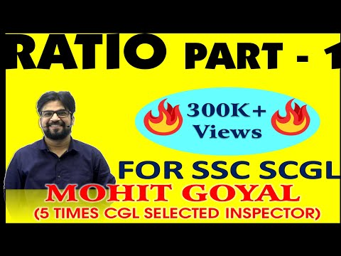 MIND BLOWING MATHS TRICKS FOR SSC CGL EXAMS | RATIO PART - 1
