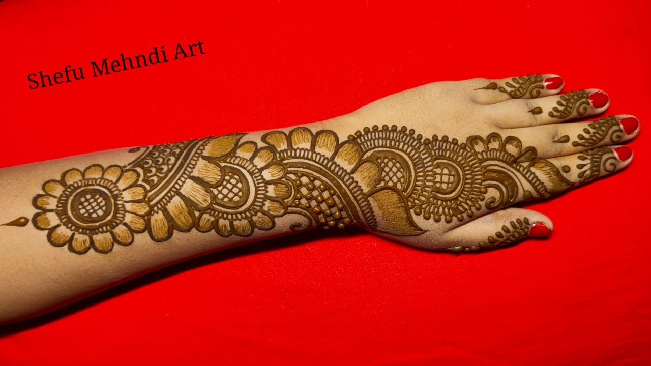 New Easy Full Hand Shaded Arabic Mehndi Design Simple Arabic Mehndi Designs For Back Hands Mehandi Youtube