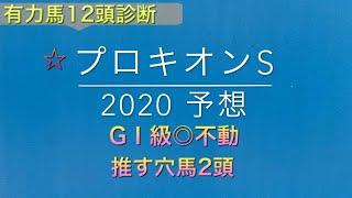 【競馬予想】 プロキオンステークス 2020 予想
