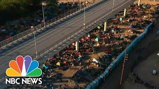 Migrant Camp Beneath Del Rio Border Bridge Cleared Out