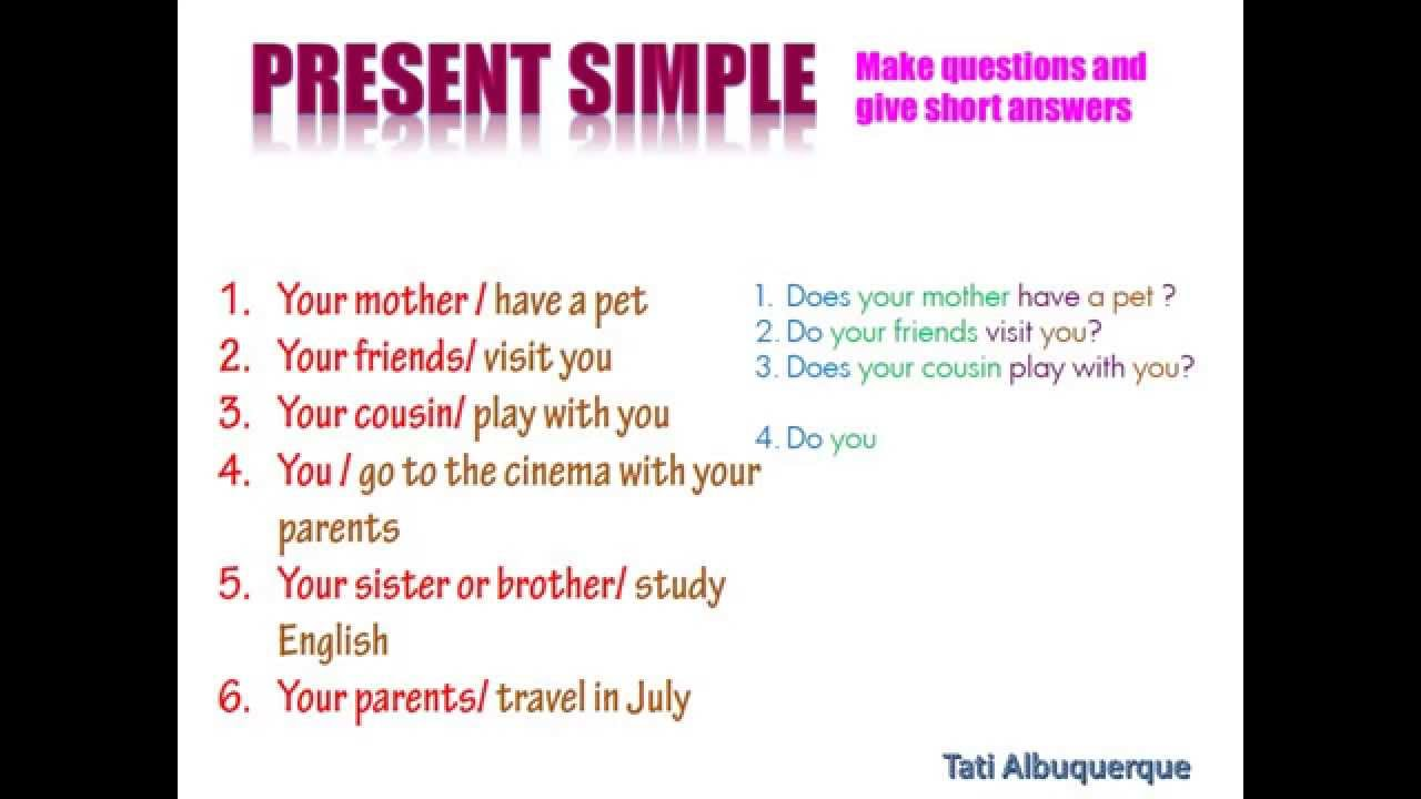 Inglês gramática Simple present/ Presente Simples aula 1 ...